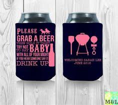 baby shower koozies baby shower a baby is brewing custom can cooler cozy by