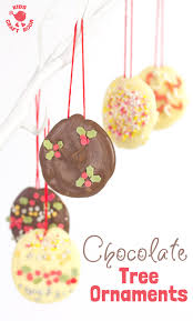 homemade chocolate tree decorations kids craft room