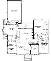 Colonial House Floor Plans by Five Bedroom One Story House Plans Nrtradiant Com