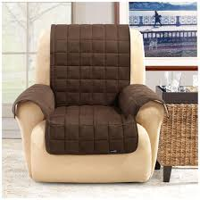 pet chair covers sure fit waterproof quilted suede wing chair recliner pet cover
