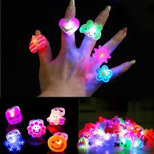led light up rings 2018 cute cartoon blinking led light up jelly finger rings party for