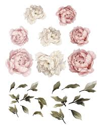 peony flower large peony flower wall decals caden
