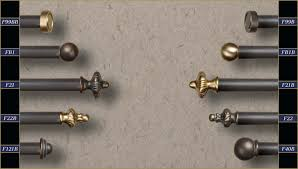 Black Iron Curtain Rod Iron Curtain Rods And Finials Rooms