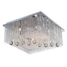 Wohnzimmer Lampe Energiesparlampe Led Deckenleuchte Blau Chrom Kristallglas Deckenlampen
