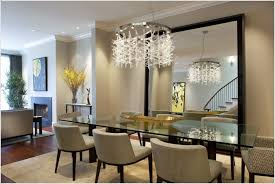 modern mirrors for luxury dining room design with contemporary