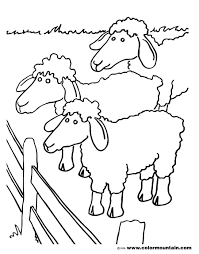 sheep herd coloring page create a printout or activity