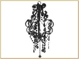 Mini Black Chandelier Mini Black Chandelier With Crystals Home Design Ideas