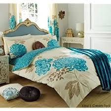 Teal Bed Set Teal Printed Bedding King Size Duvet Quilt Cover Bed Set Amazon