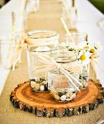 Mason Jar Wedding Centerpieces Rustic U0026 Sweet Yellow Summer Wedding Hostess With The Mostess