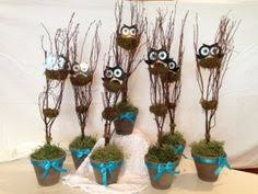 owl centerpieces owl centerpieces but in browns or blues for a baby boy idea s
