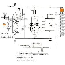 infrared ir led flood light circuit diagram electronic circuit