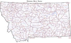 Bitterroot Mountains Map Map Of Montana Rivers Travel Map Vacations Travelsfinders Com