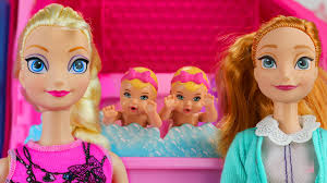 frozen anna elsa twin babies babysit