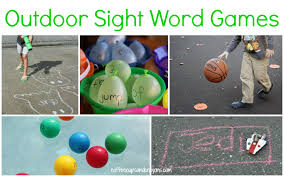 sight word to play outdoors coffee cups and crayons