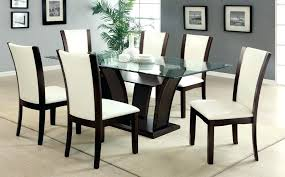 Glass Extendable Dining Table And 6 Chairs Dining Room Tables And Chairs Dining Room Chair Black Dining Table