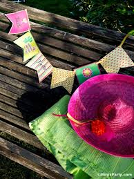 Mexican Party Flags Cinco De Mayo Party Ideas A Mexican Pinata Themed Fiesta Party