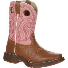 cowboy boots uk leather lil durango big kid pink boot bt387
