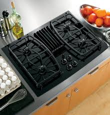 Downdraft Cooktops Ge Profile Series 30 Built In Gas Downdraft Cooktop Pgp989dnbb