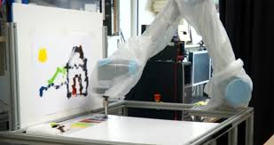 painting robot painting robot eye tracking robot arm lets you paint while you eat