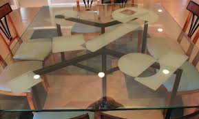 8 Seater Round Glass Dining Table Chair Seams To Fit Home Consignment Furniture Designer Showroom