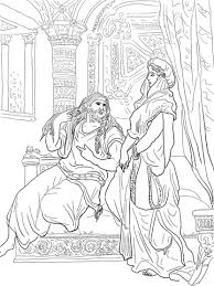 samson and delilah coloring page free printable coloring pages