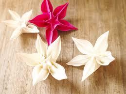 Porte Alliance Fleur Décoration De Table En Origami Fleurs Exotiques Mariage Et