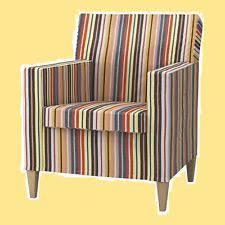 Small Armchair Ikea Ikea Karlstad Armchair Chair Slipcover Cover Multicolor Ebay