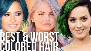 best u0026 worst weird colored celeb hair styles youtube