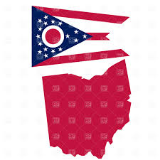Map Ohio State by Map And Flag Of Ohio State Vector Image 1036 U2013 Rfclipart