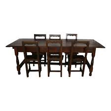 Dining Table And Six Chairs Rustic Dining Table With Six Chairs Ski Country Antiques Home