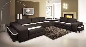 joli canapé décorer salon meuble et éclairage led ruban