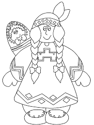 native american coloring pages adults thanksgiving coloring