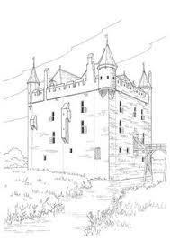 dans ce coloriage tu découvriras un grand château fort au milieu d