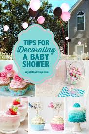 baby shower decor ideas tips for decorating a baby shower crystalandcomp