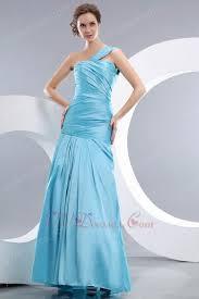 shoulder corset back mermaid light sky blue prom dress