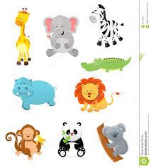 cartoon jungle animals clipart clipartxtras