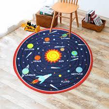 Round Red Rug Kids Round Rug Solar System 39