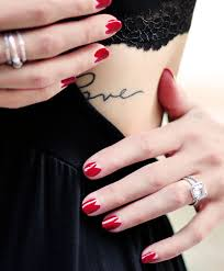 oxblood flesh triangle reveal nail art for halloween love maegan