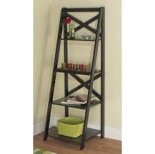 Bookcase Ladder Kit by Furniture White 5 Shelf Leaner Ladder Bookcase Ideas Nice And