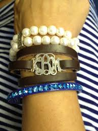 monogrammed bracelets sterling silver monogrammed dainty leather wrap bracelet monogram