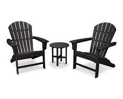 Polywood Syracuse In Cape Cod 3 Piece Adirondack Set Trex Outdoor Furniture
