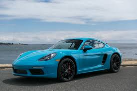 miami blue porsche boxster 2017 porsche 718 cayman s silver arrow cars ltd victoria bc