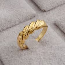bridal gold ring jeexi new woman bridal wedding rings fashion bands style simple