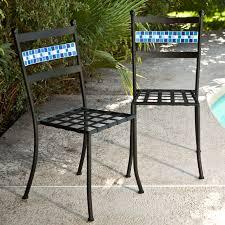 Patio Furniture Bistro Set - coral coast marina mosaic bistro set hayneedle