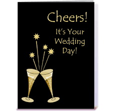 wedding day congratulations chagne toast wedding congratulations greeting card by starstock