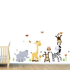 Nursery Wall Decorations Removable Stickers Wall Stickers For Room Decorations Animal Decals Bedroom