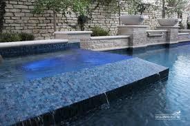 Waterfall Glass Tile Pool And Spa Tile Ideas Thesouvlakihouse Com