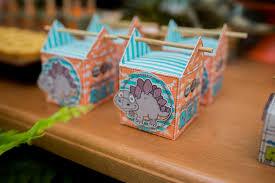 Birthday Favor Boxes by Kara S Ideas Favor Boxes From A Dinosaur Birthday Via