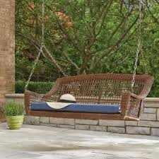 when does home depot spring black friday end hampton bay spring haven brown 2 person wicker outdoor swing with