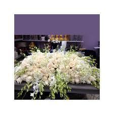 casket sprays all white casket spray garden of kisses